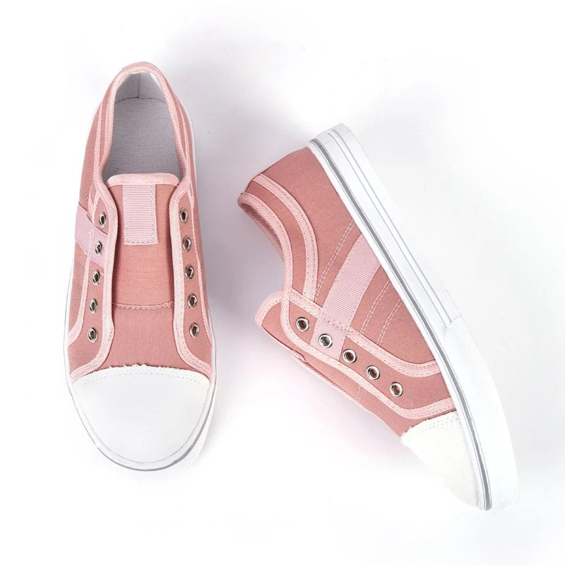 Women Slide Canvas Round Toe Casual Outdoor Sneakers