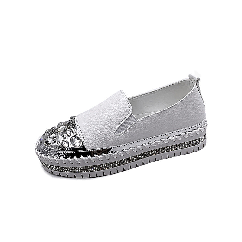 Women Casual Big Rhinestones Non-slip Sneakers