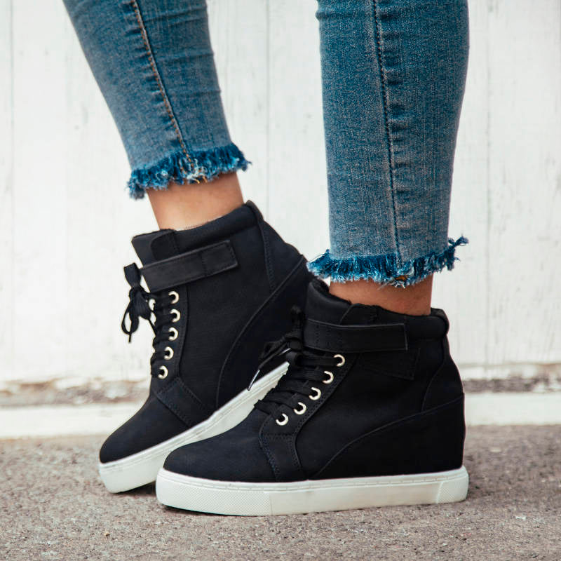 Women's Fashion Plus Velvet Round Ankle Boots