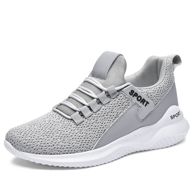 Women Athletic Split Joint Net Lace-up Flat Heel Sneakers