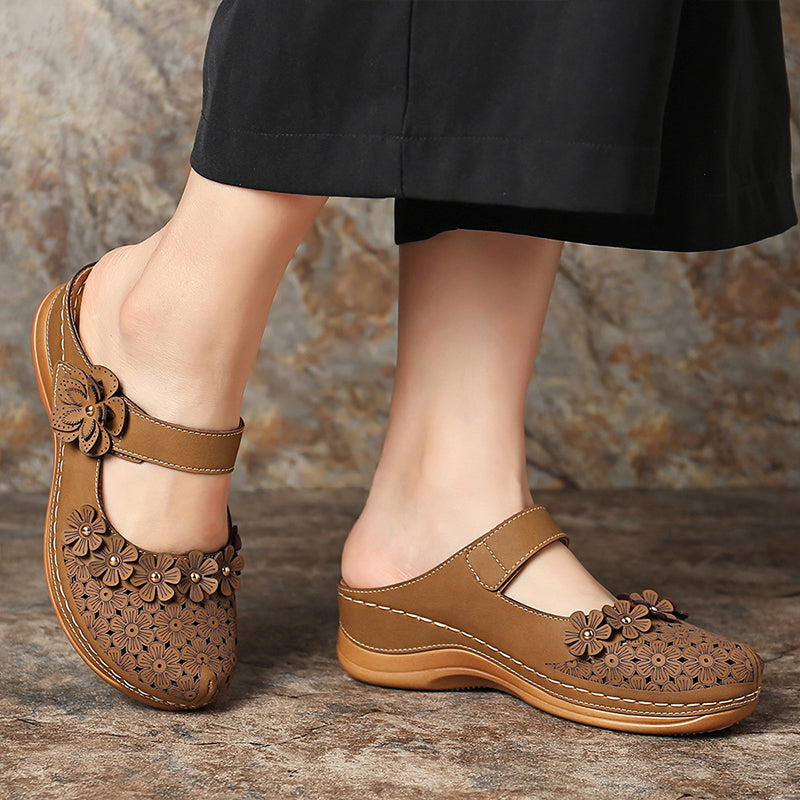 Women Roman Casual Magic Tape Wedge Heel Sandals
