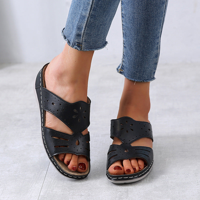 Women Large Size Casual Cutout Comfortable Slippers