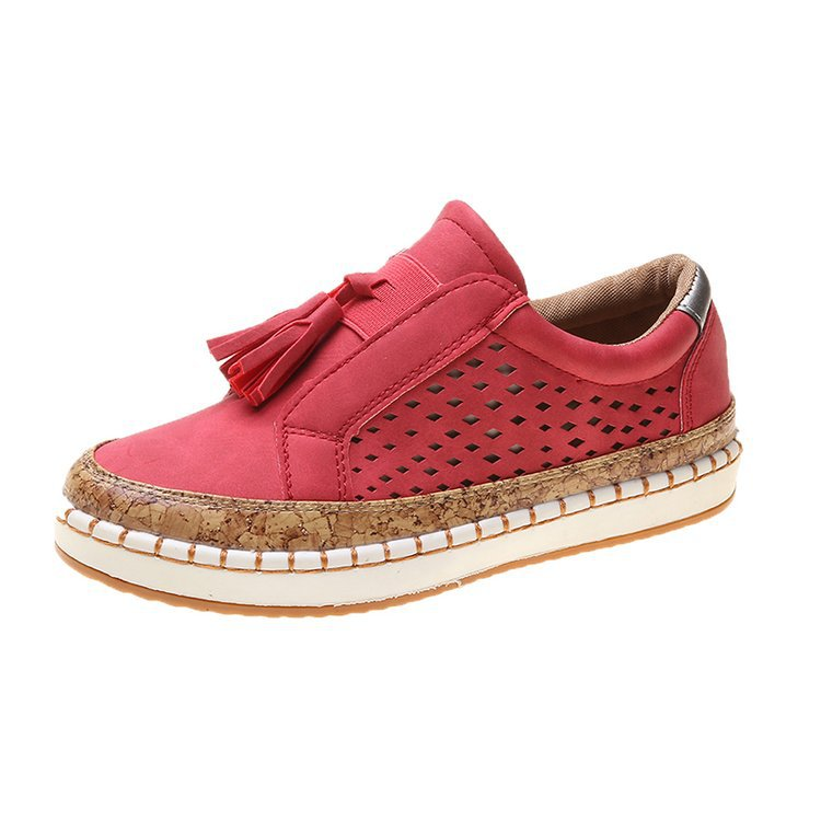 Women Plus Size Daily Tassel Slip-on Sneakers