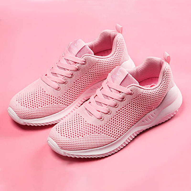 Women Outdoor Breathable Lace Up Platform Sneakers