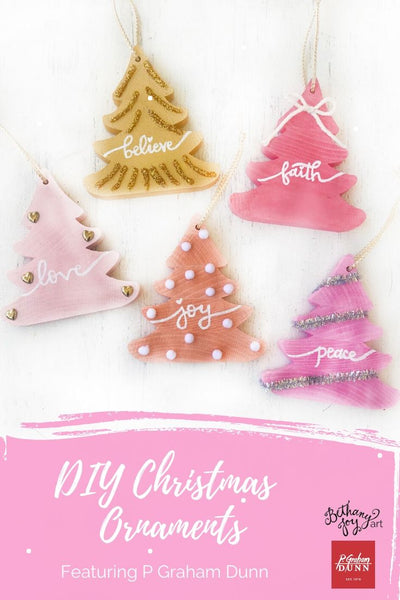 DIY Christmas Ornaments Featuring P Graham Dunn