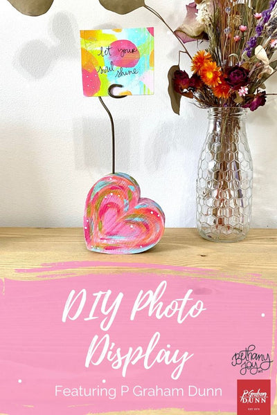 DIY Heart Photo Display Featuring P Graham Dunn