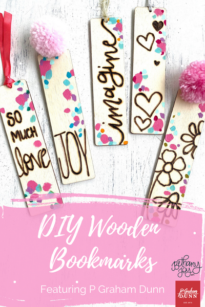 DIY Wooden Bookmarks Featuring P Graham Dunn