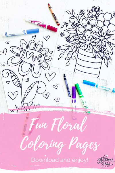 Fun Floral Coloring Pages!