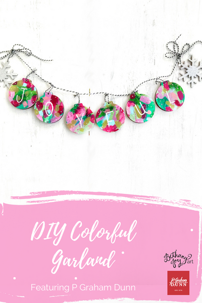 DIY Colorful Garland Featuring P Graham Dunn