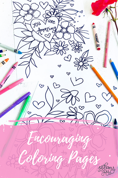 More Encouraging Coloring Pages!
