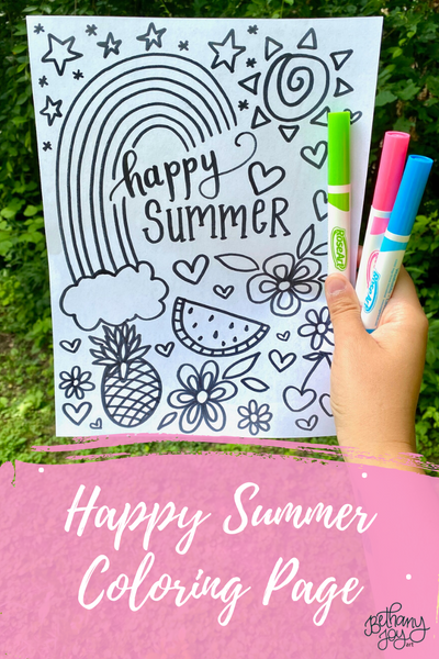 Happy Summer Coloring Page Printable!
