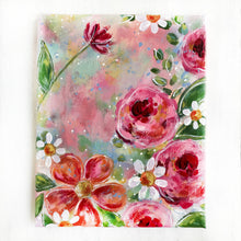 Load image into Gallery viewer, New Spring Floral Mixed Media Painting on 8x10 inch canvas - Bethany Joy Art