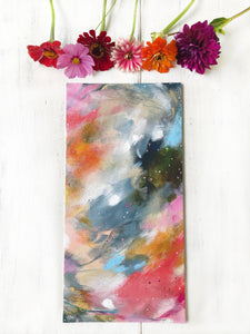 "Abstract Original Painting ""Love You Most"" 8x16 inch Canvas Panel - Bethany Joy Art"