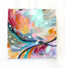 "Load image into Gallery viewer, Abstract Original Painting ""Live by the Light"" 4x4 inch Gallery Wrapped Canvas - Bethany Joy Art"