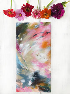 "Abstract Original Painting ""Love You More"" 8x16 inch Canvas Panel - Bethany Joy Art"
