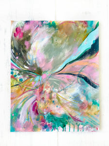 "Abstract Original Painting ""Field of Dreams"" 16x20 inch Canvas - Bethany Joy Art"