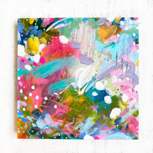 "Load image into Gallery viewer, ""May Your Home Know Joy"" Abstract Original Painting on 8x8 inch Wood Panel - Bethany Joy Art"