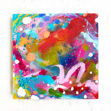 "Load image into Gallery viewer, ""A Love-Filled Home"" Abstract Original Painting on 8x8 inch Wood Panel - Bethany Joy Art"