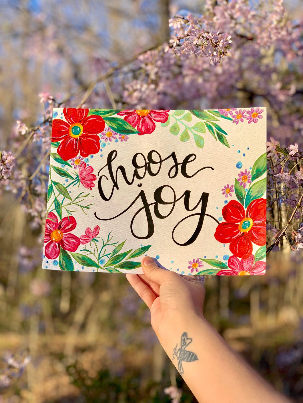 Floral Choose Joy Art Print - Bethany Joy Art