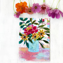 "Load image into Gallery viewer, August Daily Painting Day 18 ""Sweeter than Honey"" 5x7 inch Floral Original - Bethany Joy Art"