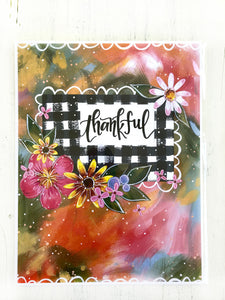 """Thankful"" Autumn Inspired Inspirational 8.5x11 inch Art Print - Bethany Joy Art"