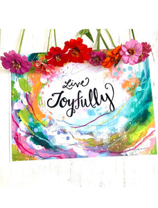 Live Joyfully Art Print - Bethany Joy Art