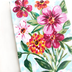 """Spring at Last"" 5x7 inch Original Floral Painting on Canvas with 1.5 inch painted sides - Bethany Joy Art"