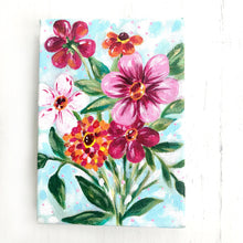 "Load image into Gallery viewer, ""Spring at Last"" 5x7 inch Original Floral Painting on Canvas with 1.5 inch painted sides - Bethany Joy Art"