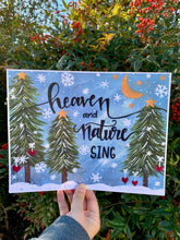 "Load image into Gallery viewer, ""Heaven and Nature Sing"" Christmas 11x8.5 inch Art Print Holiday Home Decor - Bethany Joy Art"