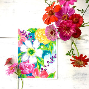 "Floral Art - ""Summer Floral"" - 8.5x11 Print - Bethany Joy Art"