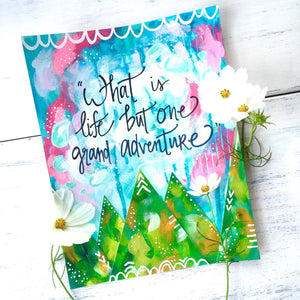 "Adventure Art Print / Inspirational Art ""Grand Adventure"" (8.5x11 inch) - Bethany Joy Art"