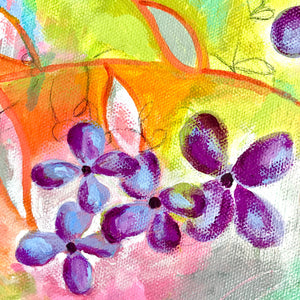 "Original Floral Abstract Painting: ""Spring at Last"" - Bethany Joy Art"