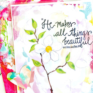 "Inspirational Art Print ""All Things Beautiful"" 8.5 x 11 inches - Bethany Joy Art"