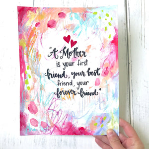 Mother's Day Art / 8.5x11 inch Art Print / Gift for Mom - Bethany Joy Art