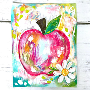 Sweet Apple 8.5x11 inch Art Print / Kitchen Decor / Fruit Art - Bethany Joy Art