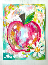 Load image into Gallery viewer, Sweet Apple 8.5x11 inch Art Print / Kitchen Decor / Fruit Art - Bethany Joy Art