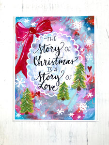 Story of Christmas / 8.5x11 inch inspirational art print / Christmas art / holiday home decor / Colorful Christmas gift - Bethany Joy Art