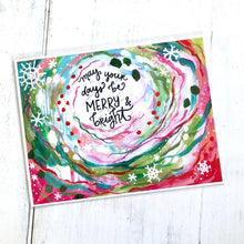 Load image into Gallery viewer, May your days be Merry and Bright / 11 x 8.5 inch inspirational art print / Christmas decorations / Holiday home decor / colorful art gift - Bethany Joy Art