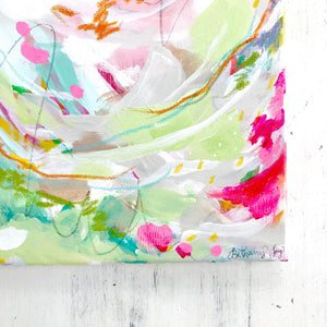 Choose Joy Original Abstract Painting on 12x24 inch canvas / Colorful Art for the Home / Inspirational Decor - Bethany Joy Art
