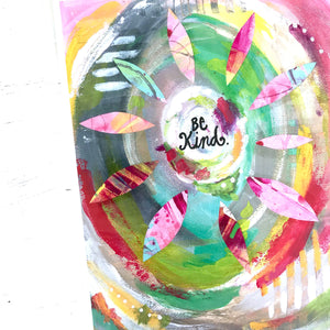 "Mixed Media Paper Print: ""Be Kind"" - Bethany Joy Art"