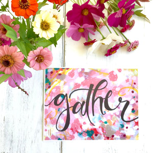 "Inspirational Art Print: ""Gather"" 11x8.5 inch Print / Autumn Inspired Art / Fall Colors / Colorful Art for the Fall Season / Gather Together - Bethany Joy Art"