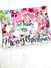 "Load image into Gallery viewer, Christmas Art Print: ""We Wish you a Merry Christmas"" 8.5x11 inch Art Print / Colorful Christmas Wall Decor / Holiday Art / Christmas Gift - Bethany Joy Art"