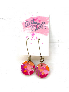 Colorful, Hand Painted Earrings 159