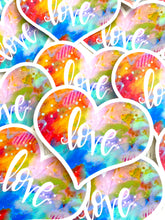 Load image into Gallery viewer, Love Vinyl Heart Sticker - February Sticker of the Month - Bethany Joy Art