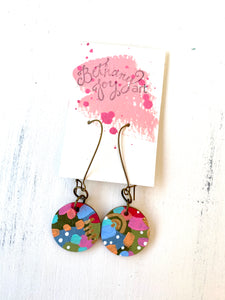 Colorful, Hand Painted Earrings 110