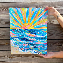 "Load image into Gallery viewer, ""Shine Your Joy"" 16x20 inch original painting on canvas"