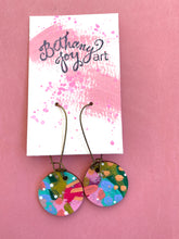Load image into Gallery viewer, Colorful, Hand Painted Earrings 26 - Bethany Joy Art