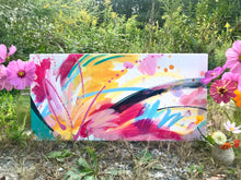 "Load image into Gallery viewer, Abstract Original Painting ""Favorite Kind of Sky"" 10x20 inch Canvas - Bethany Joy Art"