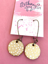 Load image into Gallery viewer, Colorful, Hand Painted Earrings 8 - Bethany Joy Art