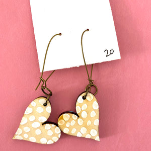 Colorful, Hand Painted, Heart Shaped Earrings 20